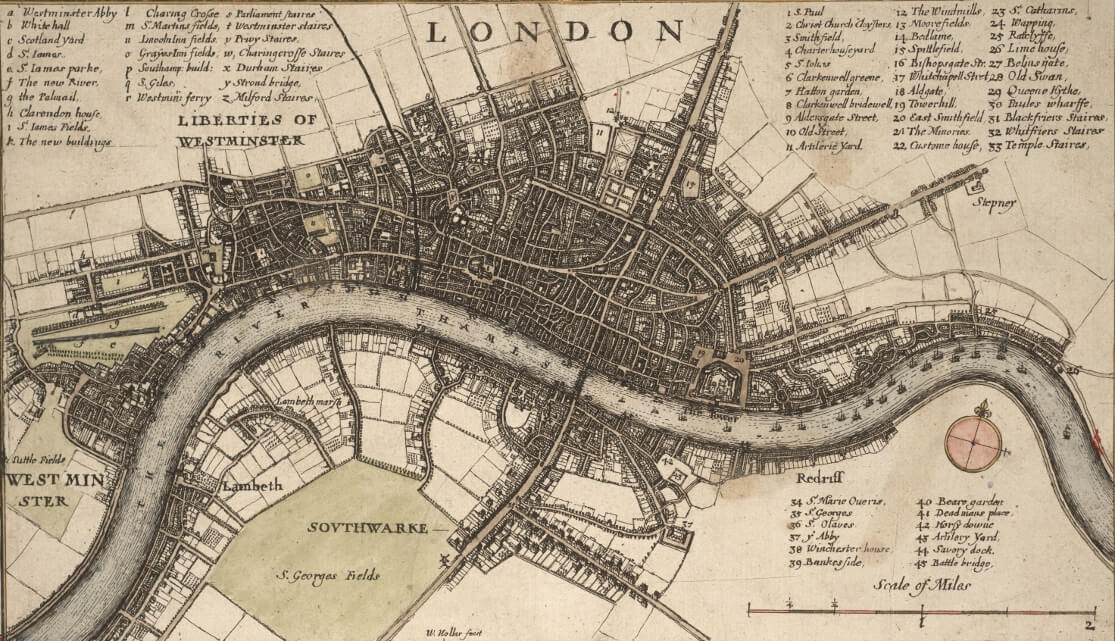 Antique London map