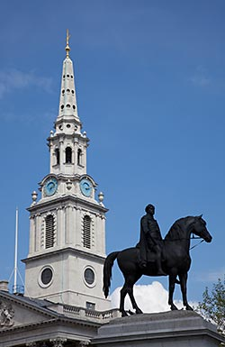 Spire of St. Martin-in-the-Fields Church, Trafalgar Square